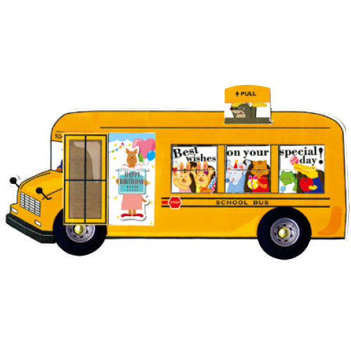 Greeting Life Kids School Bus Birthday Card JB-8