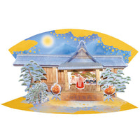 Greeting Life Japanese Style Card Fan JP-17