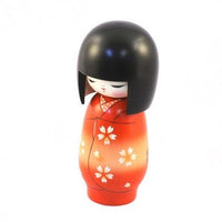 Kyoohoo Japanese Kokeshi Doll Flowers Cart (k12-3835)