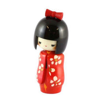 Kyoohoo Japanese Kokeshi Doll Long Sleeves Red (k12-3878A)