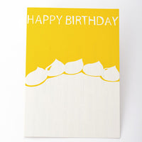 japanwave Tegami Paper Mechanics Greeting Card Happy Birthday