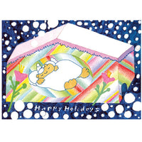 japanwave Tegami Paper Mechanics Greeting Card Happy Holidays