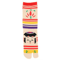 Tabi Socks Japanese Kokeshi face/M