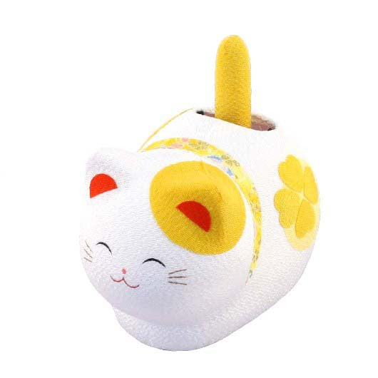 kyoohoo solar Powered Fengsui Cat Yellow K12-3212Y