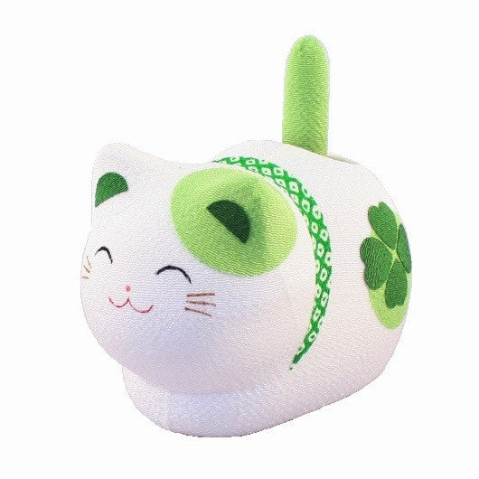kyoohoo solar Powered Fengsui Cat Green K12-3212G