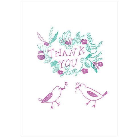 Tegami Letterpress Greeting Card THANK YOU