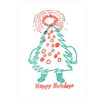 japanwave Tegami Letterpress Greeting Card Happy Holidays