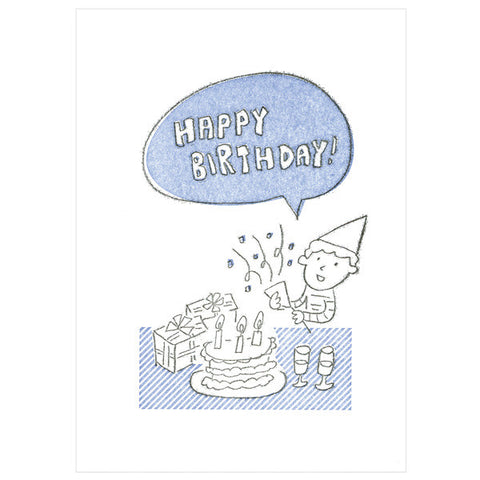 Tegami Letterpress Greeting Card HAPPY BIRTHDAY!