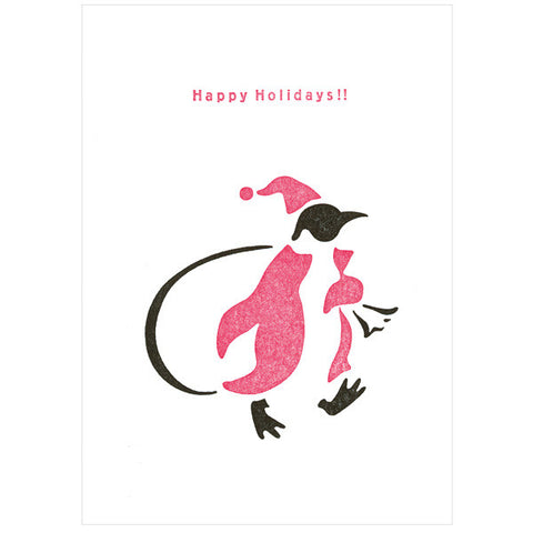Tegami Letterpress Greeting Card Happy Holidays!!
