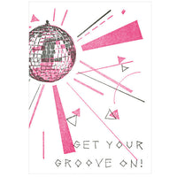 Tegami Letterpress Greeting Card Get Your Groove on!