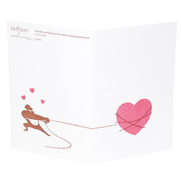 japanwave Tegami Letterpress Greeting Card Heart