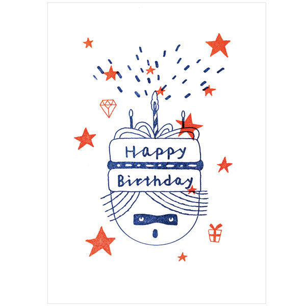 japanwave Tegami Letterpress Greeting Card Happy Birthday