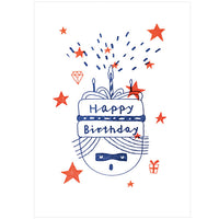 Tegami Letterpress Greeting Card Happy Birthday