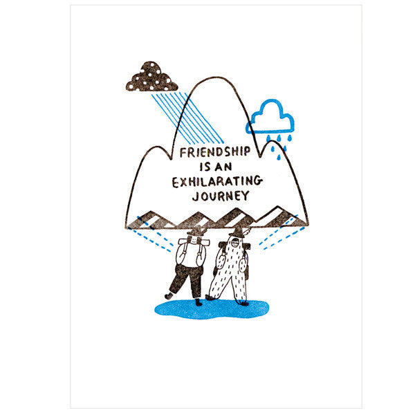japanwave Tegami Letterpress Greeting Card FRIENDSHIP