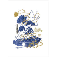 japanwave Tegami Letterpress Greeting Card Happy Anniversary!