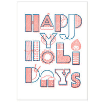 japanwave Tegami Letterpress Greeting Card Get Happy Holidays