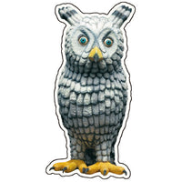 Greeting Life Animals Post Card MIisawa Atsuhiko Horned Owl WA-37