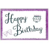 Greeting Life Cotton Letterpress Birthday Card Purple MM-100