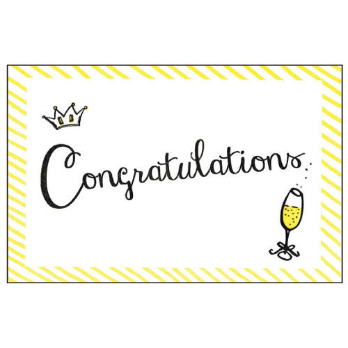 Greeting Life Cotton Letter Press Congratulation Card MM-102