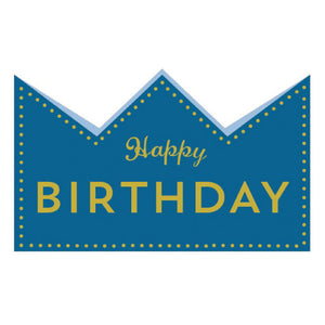 Greeting Life Birthday Crown Card Blue MM-118