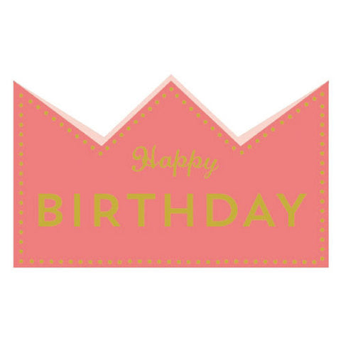 Greeting Life Birthday Crown Card Pink MM-119