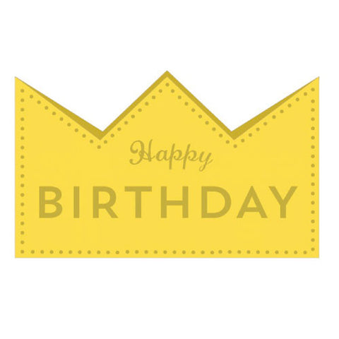 Greeting Life Birthday Crown Card Yellow MM-120