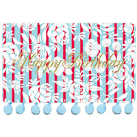 Greeting Life BONBON Birthday Card Red/Blue MM-36
