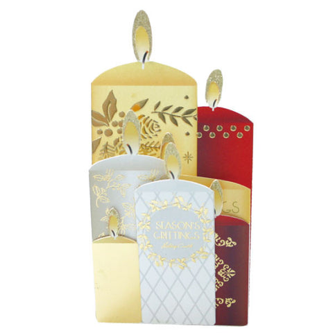 Greeting Life Christmas Candle Night Card MM-56