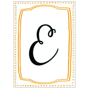 Greeting Life Alphabet Letterpress E MM-80