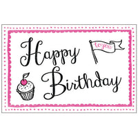Greeting Life Cotton Letterpress Birthday Card Pink MM-99