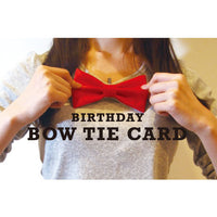 Greeting Life Birthday Bow Tie Card Red MM-121