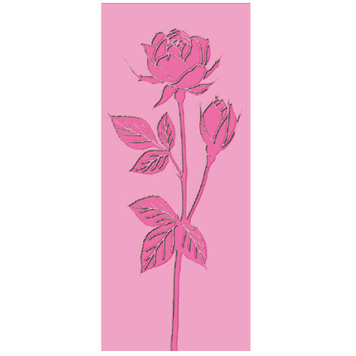 Greeting Life Mini Maniere Card Rose Pink mp-234