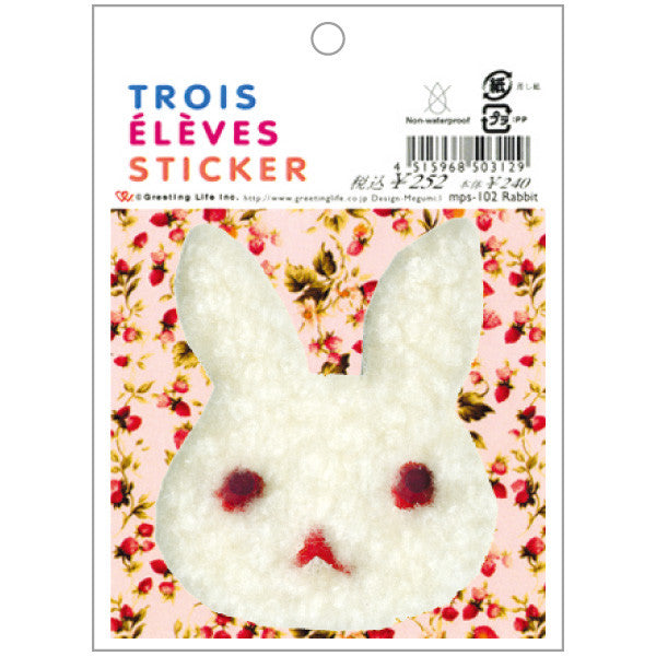 Greeting Life TROIS ELEVES Sticker Rabbit mps-102