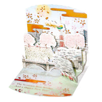 Greeting Life Mini Santa Japanese Style Pop Up Christmas Mini Card P-169