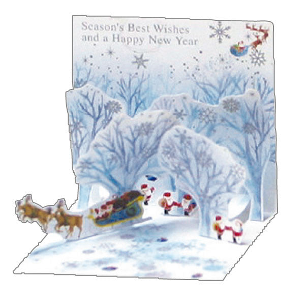 Greeting Life Mini Santa Pop Up Christmas Mini Card P-185