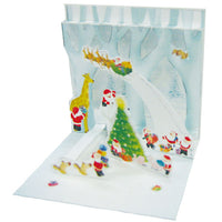 Greeting Life Mini Santa Pop Up Christmas Mini Card P-208