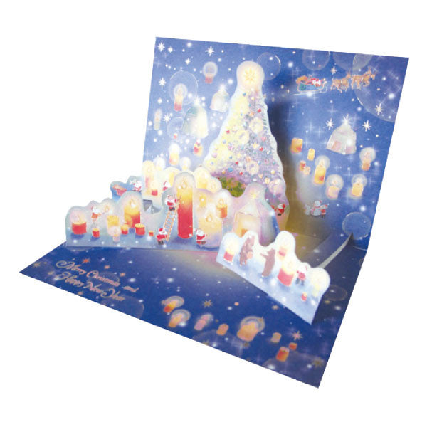 Greeting Life Mini Santa Pop Up Christmas Card P-223