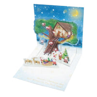 Greeting Life Mini Santa Pop Up Christmas Mini Card P-224