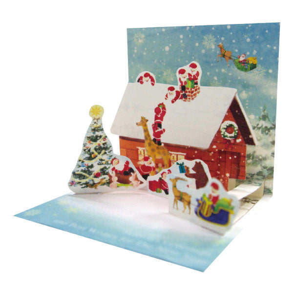 Greeting Life Mini Santa Pop Up Christmas Mini Card P-226