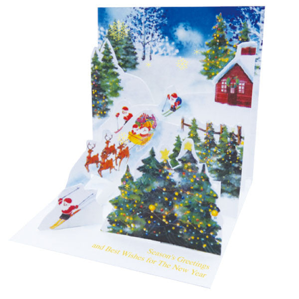 Greeting Life Mini Santa Pop Up Christmas Mini Card P-233