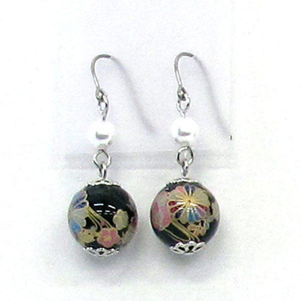 COCOLUCK Motif earrings CO-P1703-BLACK