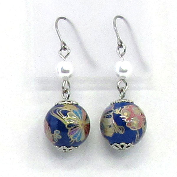 COCOLUCK Motif earrings CO-P1703-BLUE