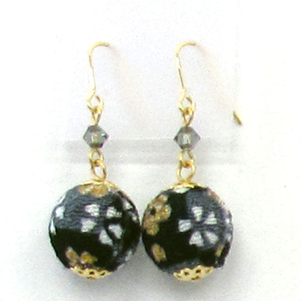 COCOLUCK Motif earrings CO-P1720-BLACK