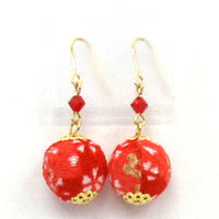 COCOLUCK Motif earrings CO-P1720-RED