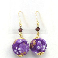 COCOLUCK Motif earrings CO-P1720-PURPLE