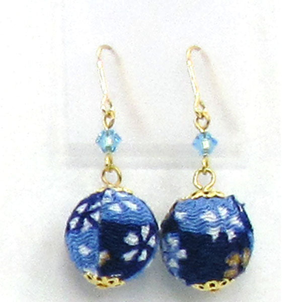 COCOLUCK Motif earrings CO-P1720-BLUE