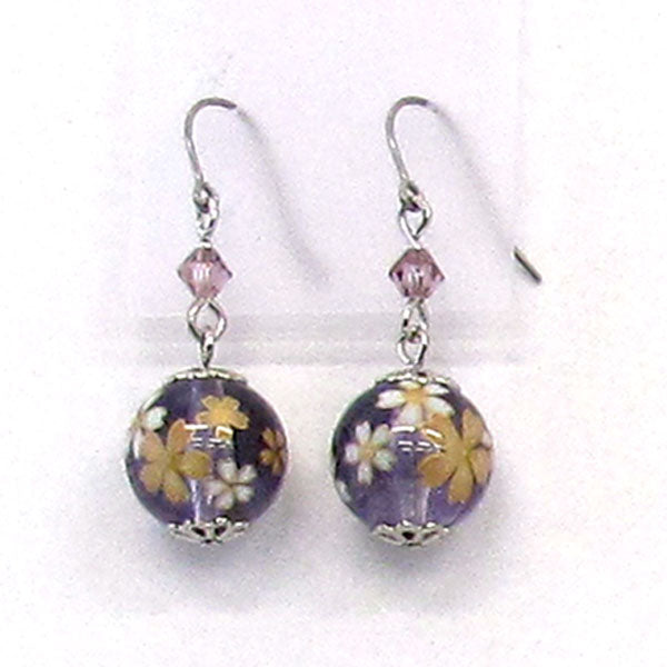 COCOLUCK Motif earrings CO-P7860-PURPLE