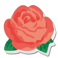 Greeting Life Die Cut  Stick Memo Red Rose PG-35