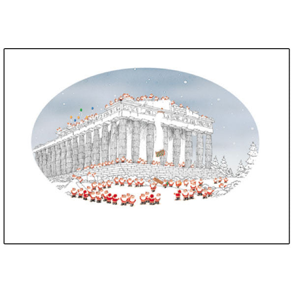 Greeting Life Mini Santa Christmas Card Parthenon S-245