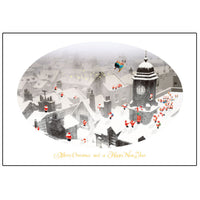 Greeting Life Mini Santa Christmas Card LONDON S-307